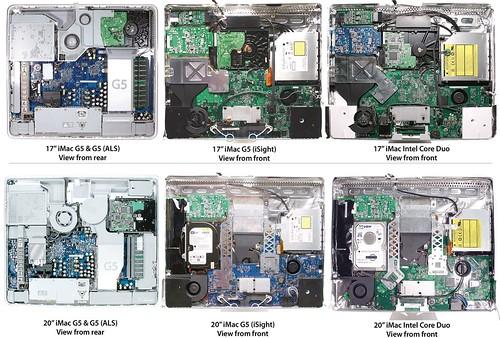 G5 vs Intel: Internal view of iMacs