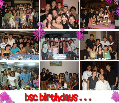 bsc birthdays!