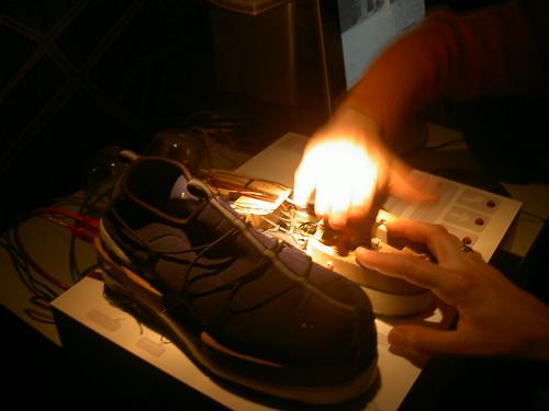GPS shoe