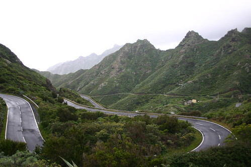 Mad curves up the Anaga Mountains on the northeastern tip of the island.