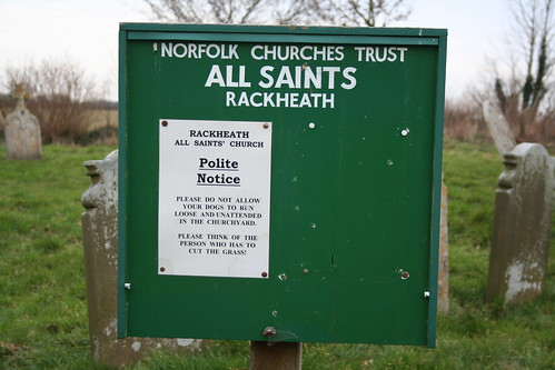 All Saints Rackheath - Please think of the person who has to cut the grass.