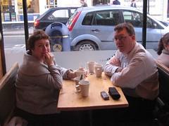 CGw a DJP yn y Caban, Aberystwyth