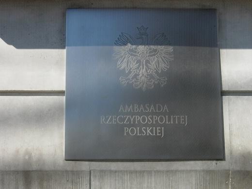 Polish Embassy plaque