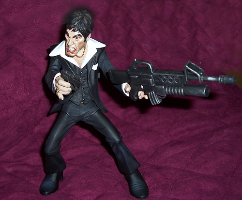 Scarface, armed and friendly