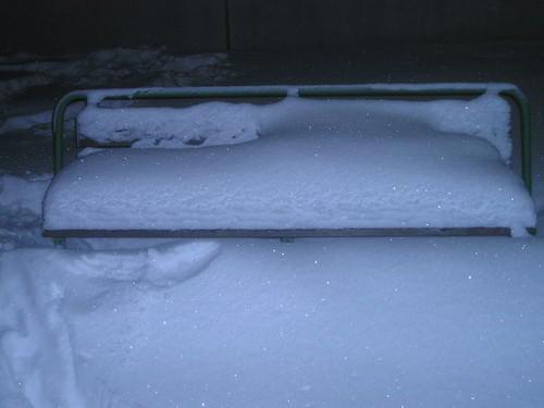 Banco en la nieve
