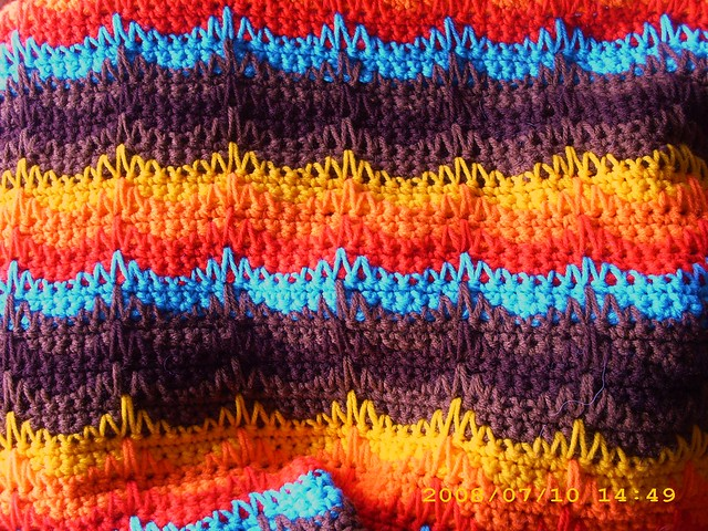 Round afghan blanket patterns, crocheted or knitted - Tame My Mind