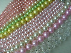 Vintage Pearl Necklaces - Pastel Beads photo by speckled-egg