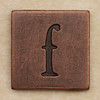 Copper Square Letter f