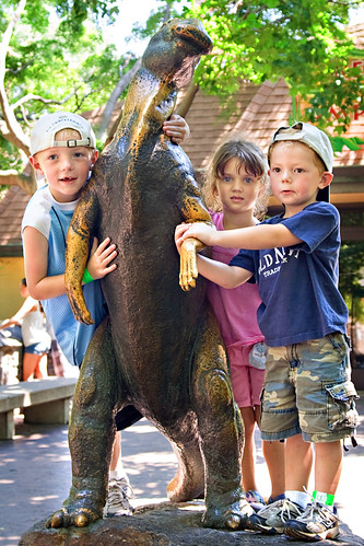 Kids and a Dino