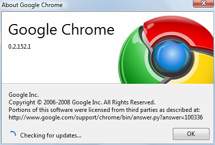 Google Chrome 0.2.152.1