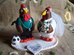 Cake topper Gallo e Gallina photo by L'Albicocca