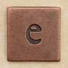 Copper Square Letter e