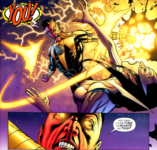 Carol getting under Sinestro's skin
