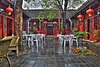 Red Lantern House Courtyard, HDR Image