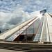 The Enver Hoxha Pyramid in Tirana, Albania