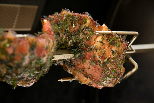 Herb Encrusted Rack on the Roto