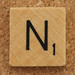 Wood Scrabble Tile N