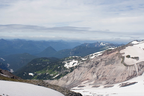 Looking down the Nisqually glacier