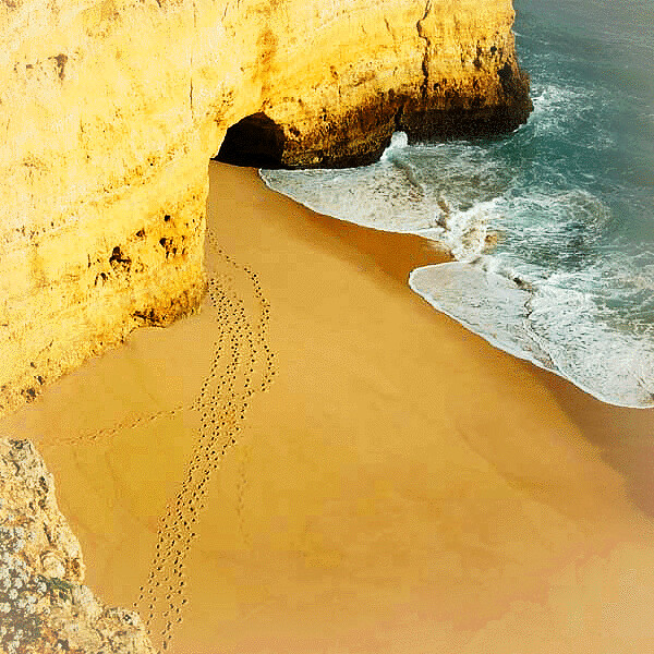 footsteps at the Algarve photo by ♦ Peter & Ute Grahlmann ♦