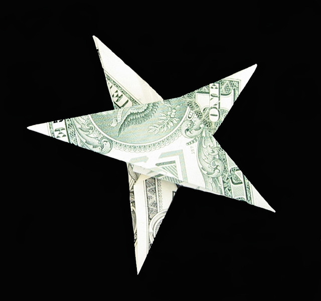 Dollar Bill Origami Christmas Tree: MONEY ORIGAMI STAR « EMBROIDERY & ORIGAMI