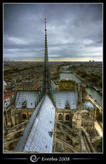 Notre Dame, View over the Seine, Paris, France :: HDR photo by Erroba