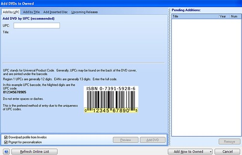 DVD Profiler 3 add by upc