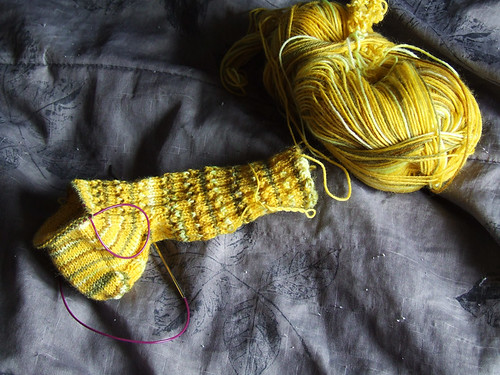Simplicity Socks in Progress