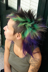 hair color green  and purple photo by wip-hairport