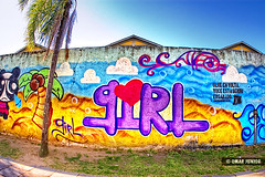 Girl Graffiti photo by Omar Junior