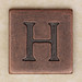 Copper Square Letter H