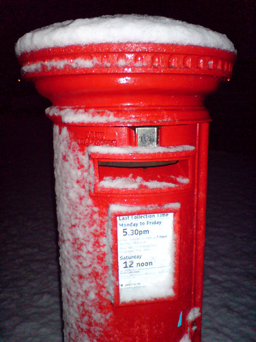 Postbox With Snow - waiting to be