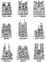 Nine cathedrals in France photo by maralina!