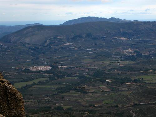 Sierra de Almudaina desde Els Plans