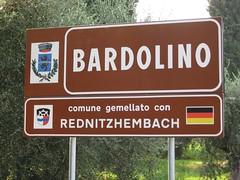 Ortsschild Bardelino
