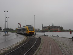 Train at Helsingor, Denmark