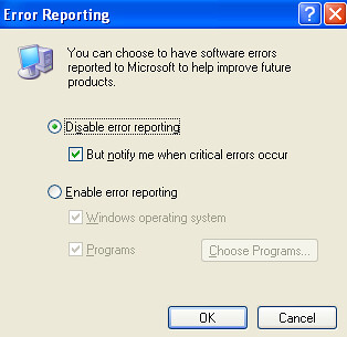 error reporting3