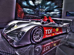 Audi Diesel R10 TDI Diesel Le Mans Racing Car - Geneva Motorshow photo by www.bazpics.com