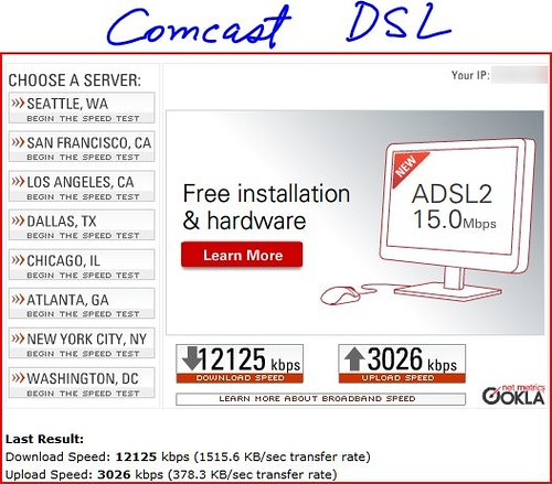 comcast DSL