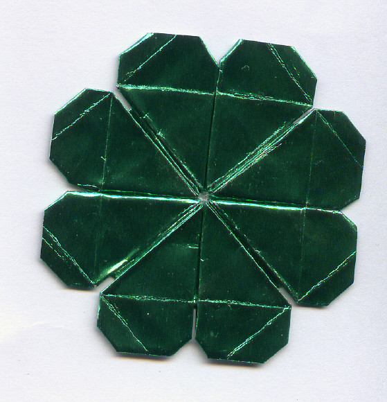 CLOVER FOUR LEAF ORIGAMI « EMBROIDERY & ORIGAMI - photo#8
