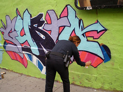 officer painting piece photo by GustoNYC