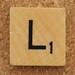 Wood Scrabble Tile L