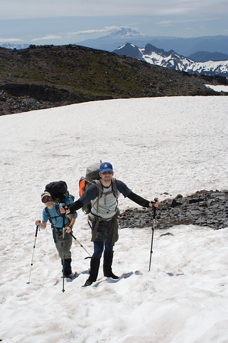Martin and Chris on the Muir Snowfield