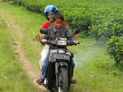 Kid Riding Motorbike