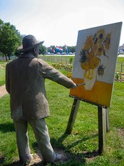 VanGogh, painting along the highway