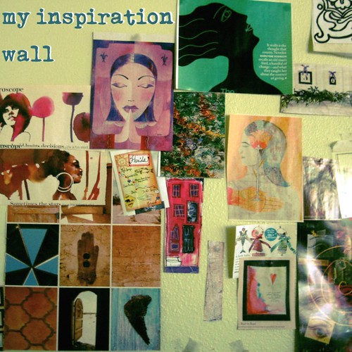 Current incarnation of my inspiration wall