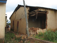 Back view of Joshua Gidado's house after the rains