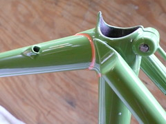 internal brake cable routing photo by Hufnagel Cycles