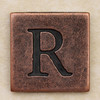 Copper Square Letter R