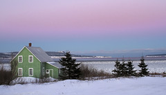 The Green house sunset on a cold winter day. Gaspesie, Canada  #1 photo by Danny VB