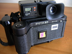 Mamiya 6x7 roll film back for Polaroid 600 photo by polapix